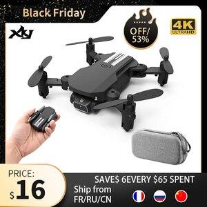 Image 1 - Xkj 2020新ミニドローン4 18k 1080 1080p hdカメラwifi fpv空気圧高度ホールド黒とグレー折りたたみquadcopter rc dronおもちゃ