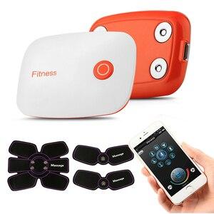 Image 2 - Bluetooth Steuer Smart Fitness Bauch Training ZEHN Muscle Stimulator EMS Arme Massager Elektrische Gewicht Verlust Körper Maschine