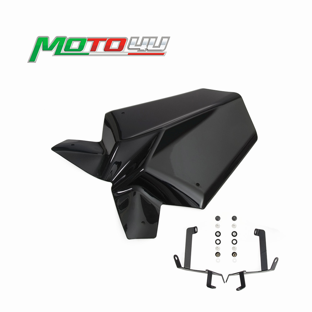 For KTM Duke 125 390 2017 2018 Motorcycle Accessories Sports Windshield WindScreen Visor Viser With Bracket Black image