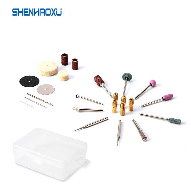 24 Pcs Dremel Accessories Rotary Tools Set Abrasive For Electric Drill Wood Metal Engraving Cutting Grinding Carving Polishing