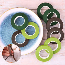 10Pcs/Lot 12mm Width 30Yard Floral Resealable Stretchy Tape DIY Florist Green Stem Decorative Flower Masking Wrap Office Adhesiv