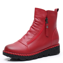 EIE Newest Ankle Boot Double Zipper For Women Short Plush Insole Female