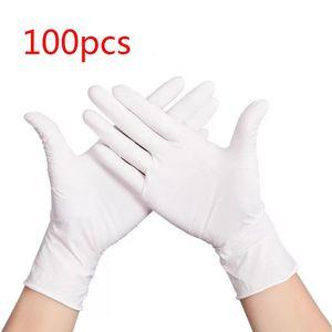 Image 1 - 100 sztuk wodoodporne jednorazowe mycie czyszczenie rękawice nitrylowe rękawice ochronne X6HB