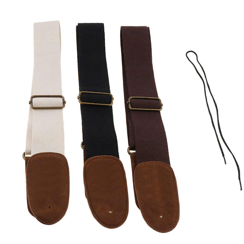 Adjustable Pure Cotton Guitar Strap for Acoustic Electric Bass Guitar 3 Color Optional