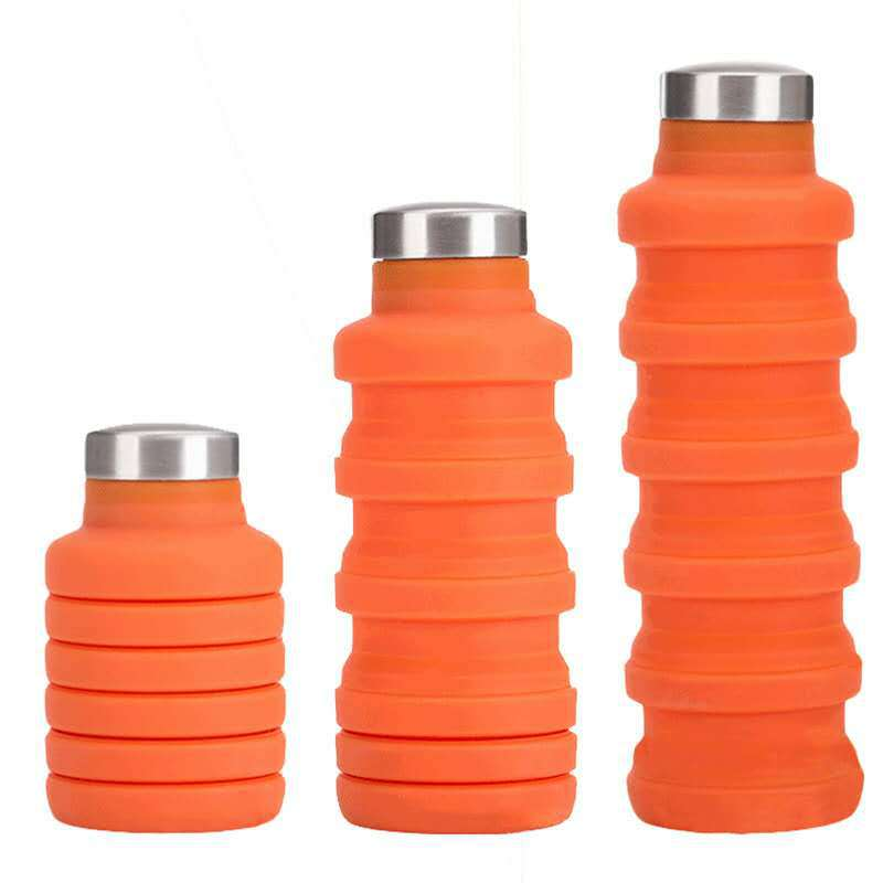Children Silica Gel Extendable Insulated Cup Seal Leak Proof Portable Outdoor Sports Folding Gift Cup|Sports Bottles| |  - title=