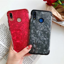 Glitter Marble Plating Case For Huawei Honor 9X 8X 7X 20 Pro 10 Lite 20i 10i 8C 7C 8A 7A View 20 P Smart Cover TPU Phone Cases(China)