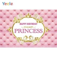Pink Bed Headboard Princess Backdrop Newborn Baby Shower Kids Birthday Portrait Custom Photography Background For Photo Studio
