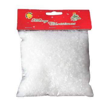 Sztuczne tworzywo sztuczne suchy śnieg w proszku świąteczny prezent sztuczny śnieg w proszku śnieg w proszku świąteczne dekoracje strona główna DIY rekwizyty sceniczne dostawa tanie i dobre opinie CN (pochodzenie) Proszku śniegu