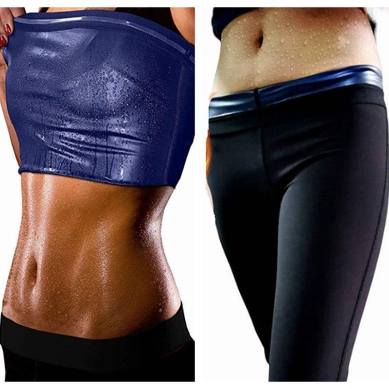 Комплект для коррекции фигуры, корректирующий пот, жилет для сауны, термо, утягивающие штаны, трусики для фитнеса, Корректирующее белье для ...