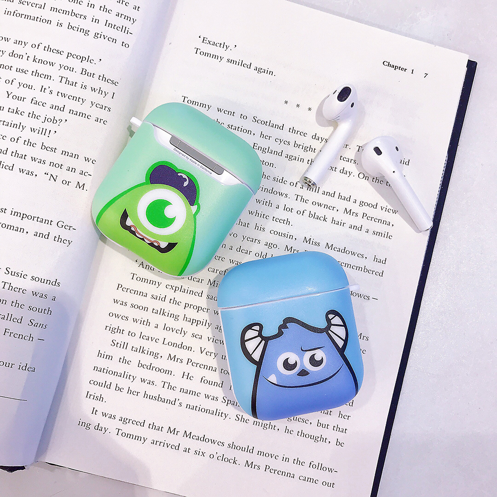 Couples Big Eye Monsters Sulley Bluetooth Earphone Hard Protective Case for Apple Airpods 1 2 Headphone Case Airpod Acessorios|Earphone Accessories|   - AliExpress