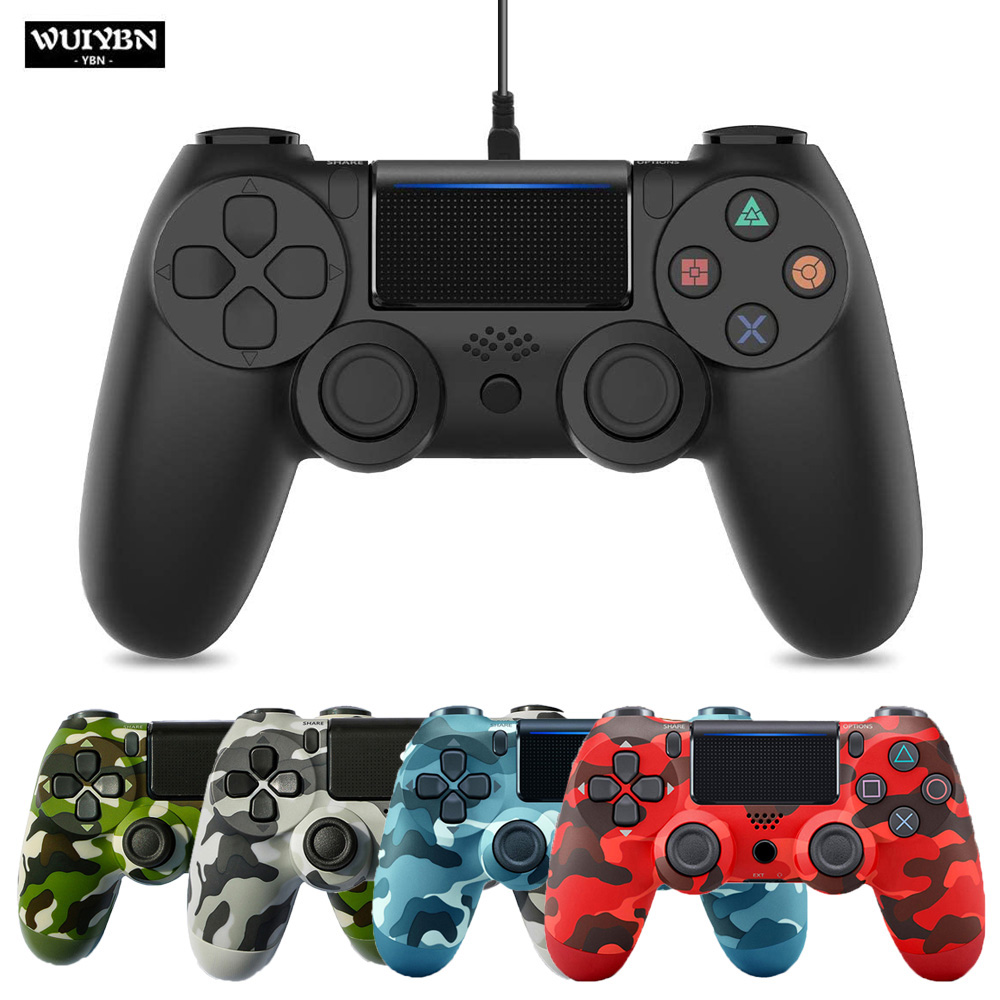 WUIYBN Wired Gamepad PS4 Controller Joystick For SONY Dualshock PlayStation 4 Game Machine Console PC Steam(China)