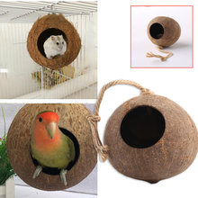 Nest Cage Climbing Parrot Bird Supplies Coconut Shell 1pcs Safe Practical Breeding Stand Parakeets