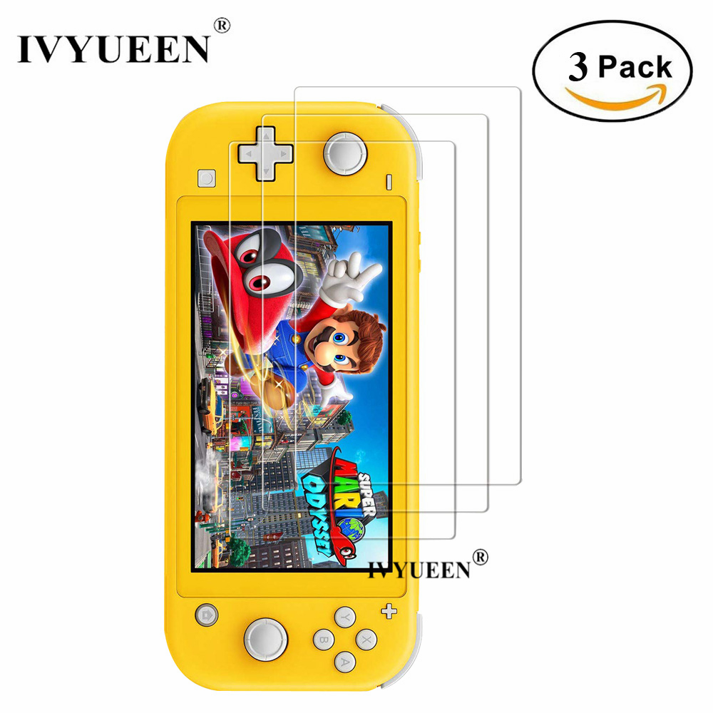 IVYUEEN 3 Pack For Nintend Switch NS Lite Mini Console 2019 Anti-scratch Tempered Glass Screen Protector Film Guard Skin Cover