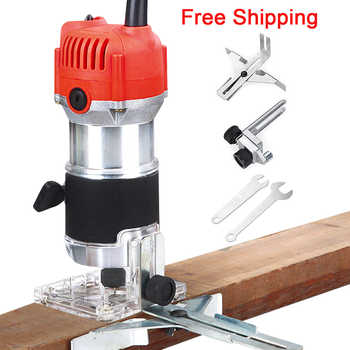 Woodworking Electric Trimmer Wood Milling Engraving Slotting Trimming Machine Carving Machine Router Wood Accessories EU USPlug - DISCOUNT ITEM  40 OFF Tools