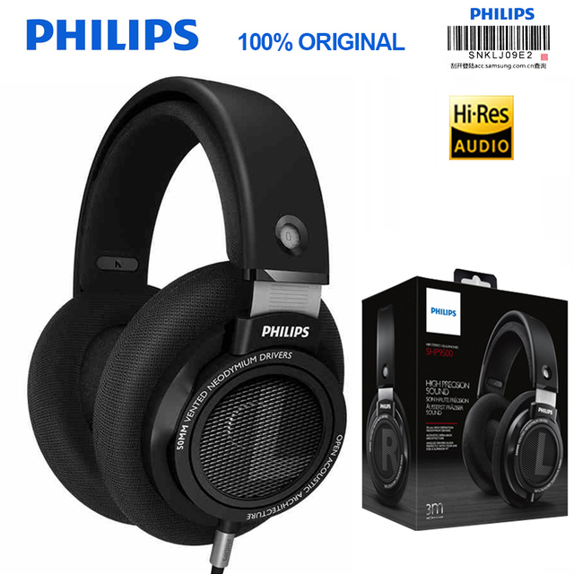 Professional Philips SHP9500 Headphones with Pure Sound Quality 3 Meter Long HIFI Headset for Xiaomi MP3 Huawei