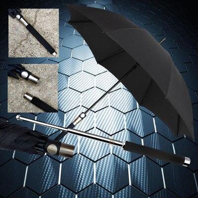 Metal portátil auto-defesa guarda-chuva ao ar livre ferramenta de auto-resgate carro janela quebrada multifuncional alça longa guarda-chuva 21/26 polegadas