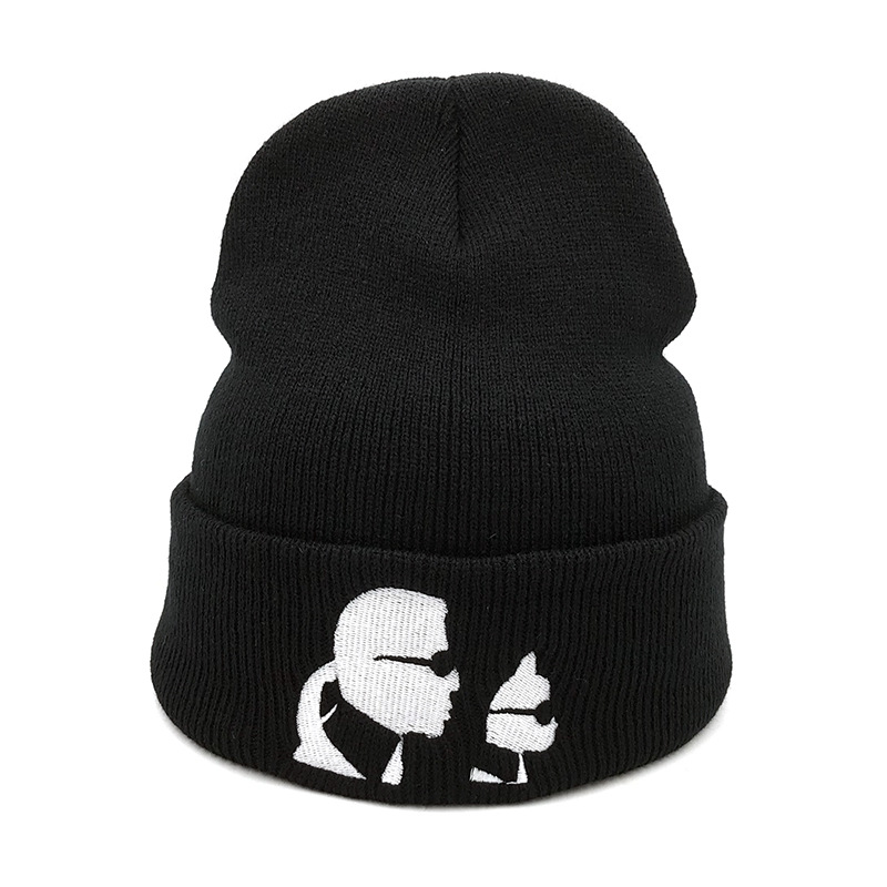 Winter Short Paragraph Cartoon Sunglasses Unisex Knitting   Beanies   Hats for Women Outdoor Caps for Men Snow Truck Driver Hat W46