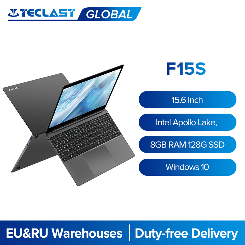 Teclast F15S 15.6 pouces IPS ordinateur portable 1920x1080 FHD PC Windows 10 ordinateur portable 8 go de RAM 128 go ROM Intel Apollo Lake double Wifi HDMI