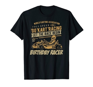 Go Kart Retro Gift Idea Lover Racing Racer for birthday kid T-Shirt(2)