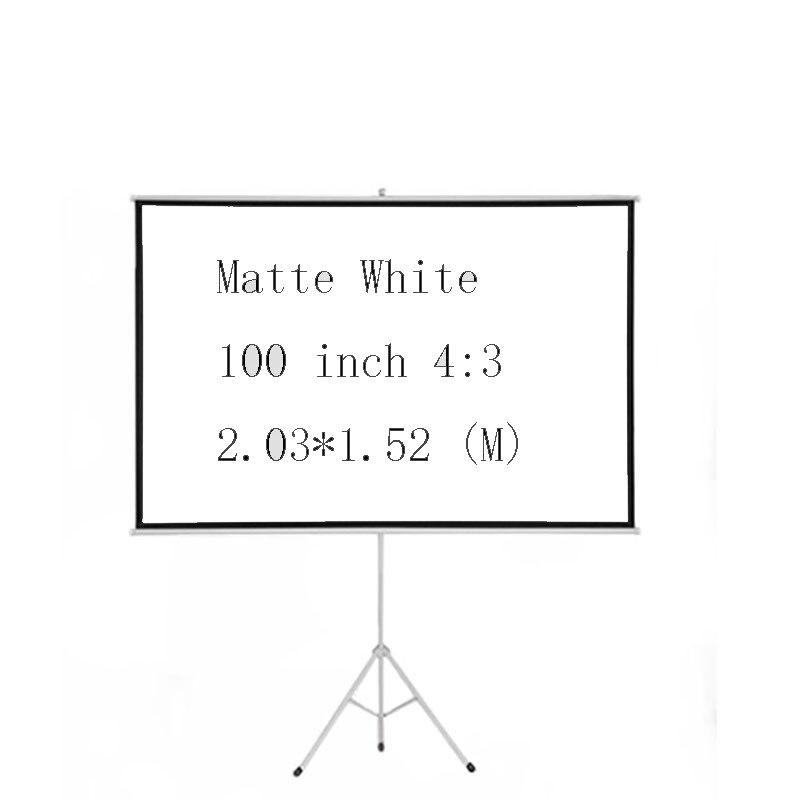 Thinyou 100 polegada 4:3 tripé portátil dobrável tela de projeção hd piso suporte uso filme ao ar livre para o negócio da família