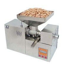 110/220V пресс для масла из нержавеющей стали автоматический пресс для масла машина для домашнего льняного масла экстрактор арахиса маслоотжимная машина