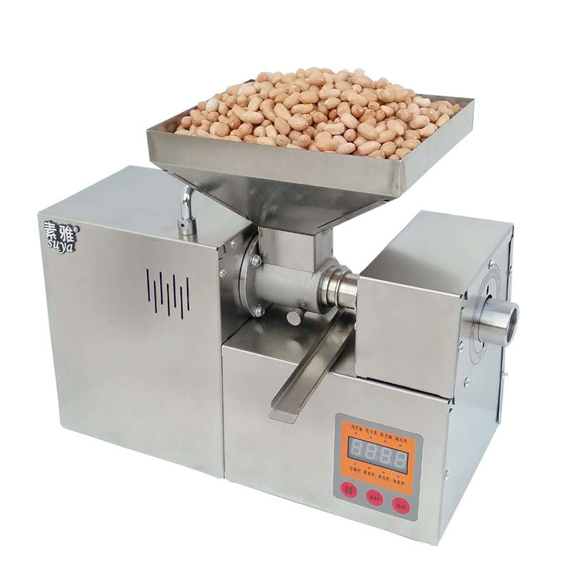 110/220V Stainless Steel Oil Presser Automatic Oil Press Machine Home Flaxseed Oil Extractor Peanut Oil Pressing Machine