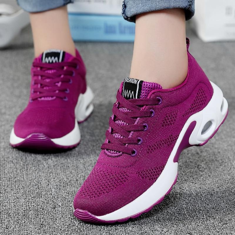 Hollow Air Cushion Women Tennis Shoes