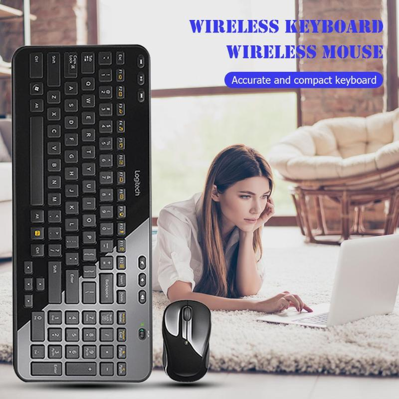 Logitech MK365 USB Keyboard Wireless Unifying Receiver Mouse Set Fashion Appearance Battery Life and Durability for Laptop PC image