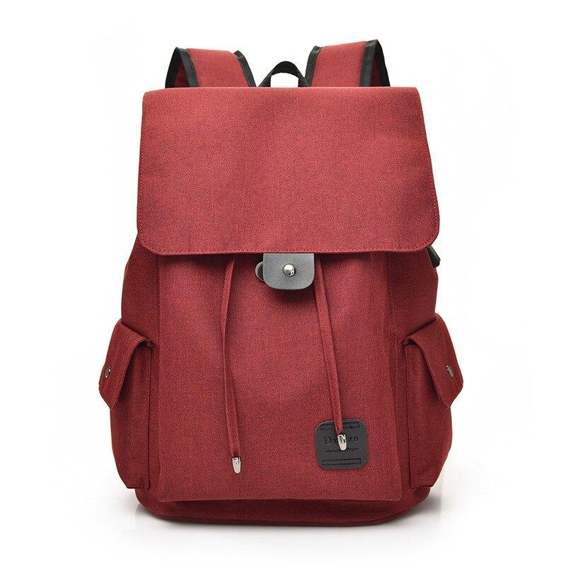 2019 Designs marque toile sac à dos femme fille cartables pour lycée grande capacité USB Charge hommes ordinateur portable Packbag