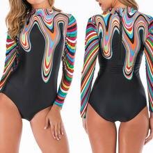 2020 Модные женские цельные костюмы для дайвинга монокини купальник