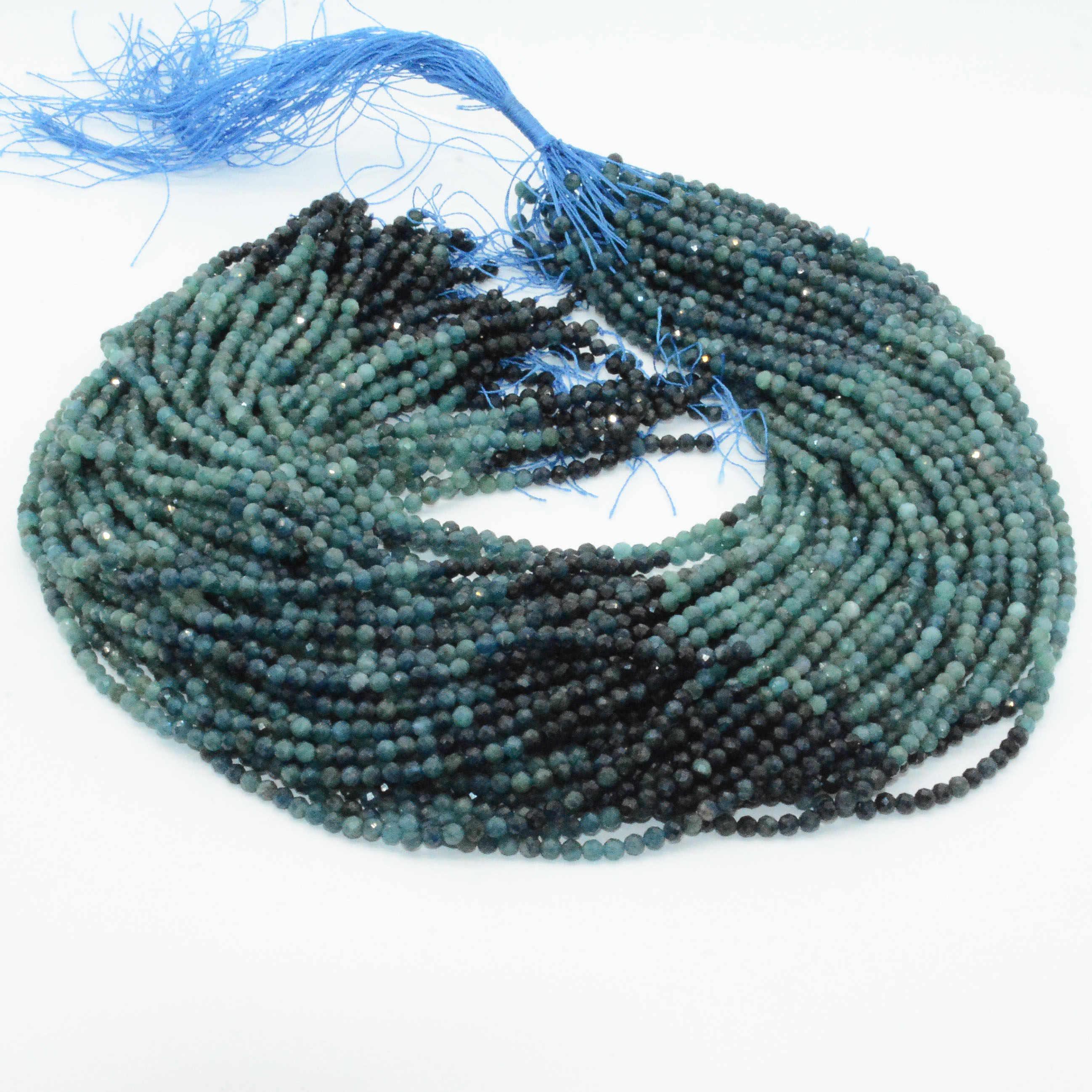 Natural Blue Tourmaline Uncut Rough Pencil Loose Beads 7-11 mm 8 Strand 11309
