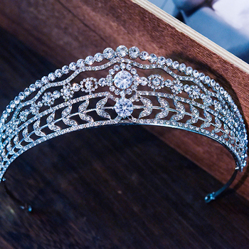 GS11588 European and American bridal zircon hairpiece rhinestone princess wedding headpiece royal palace wedding crown tiara недорого