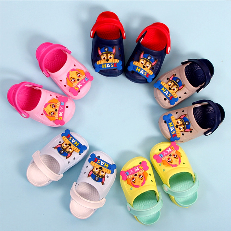 Genuine Paw Patrol Summer Shoes Children's Cartoon Chase Skye  Figure Characters Shoes Boys And Girls Baby Slippers Gift Fit2-6y