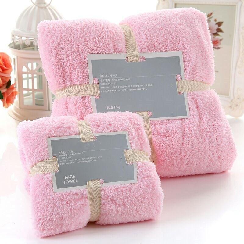 [Super Soft Coral Velvet] Bath Towel Towel Set Thick Soft Absorbent Men And Women Adult Bath Towel For Children Household