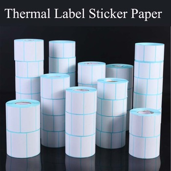 Thermal Label Barcode Sticker, 40mm Core, 1 Roll , Width 20mm ~100mm, Waterproof PrintTop Thermal Paper Adhesive Stickers Zebra