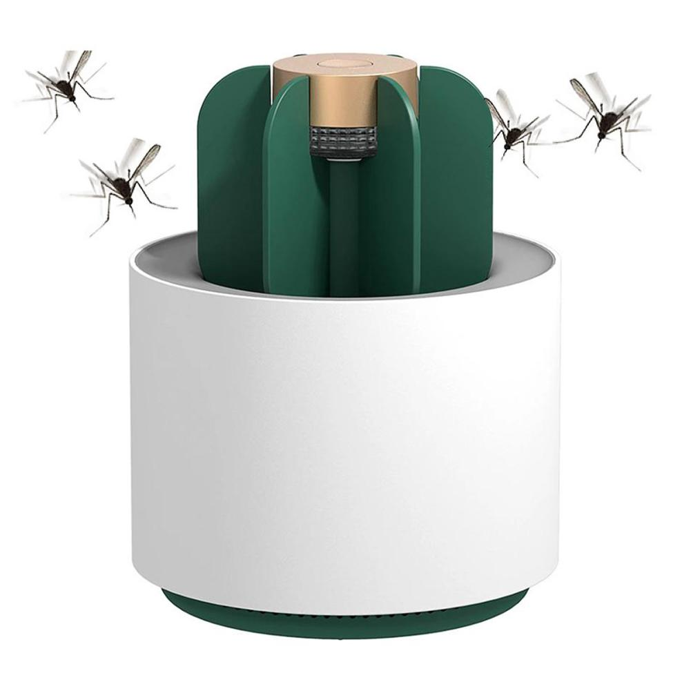 New Cactus USB LED Mosquito Killer Lamp UV Light Home Office Insect Zapper Trap