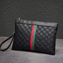 2019 new Korean casual clutch bag fashion trend men and women package plaid striped hand