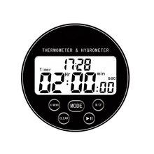 Цифровой беспроводной термометр с гигрометром датчик температуры календарь будильник Крытый многофункциональный, с ЖК-дисплеем и таймером
