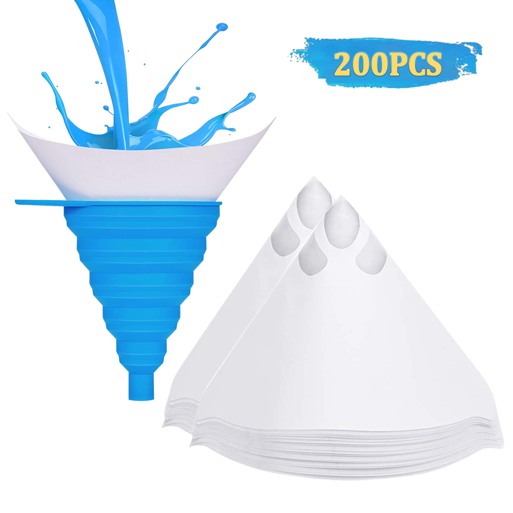 200Pcs Filters Purifying Cup Micron Nylon Conical Paper 100 Mesh Paint Strainers Mesh Paint Strainer Filter Quick delivery CSV