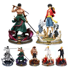 Anime Een Stuk Gk Roronoa Zoro Luffy Vinsmoke Sanji Ace Beeldje Standbeeld Action Figure Desktop Decoratie Collection Model Speelgoed