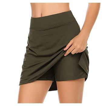Damska aktywna lekka spódnica do biegania tenis Golf Workout Sport gorąca sprzedaż moda Skorts z bielizną dla 2020 letnich pań tanie i dobre opinie Hawcoar WOMEN Poliester Stałe Pasuje prawda na wymiar weź swój normalny rozmiar 5200 Spring Summer Women Skirt Sport Casual