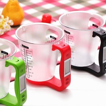 1kg/1g Measuring Cup Kitchen Scales Digital Beaker Temperature Measurement Cups Electronic Tool Scale Cup With LCD Display image