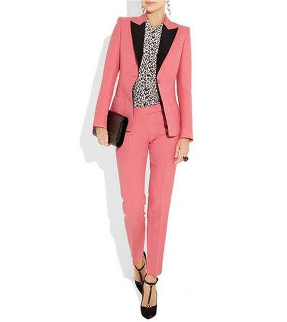Customize Women Business Suits Female work Office Uniform Ladies Formal blazer pants suit Trouser Suit 2 Piece women suits