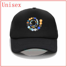 Cryptocurrency espiral Ethereum Bitcoin Litecoin Crypto red bloque cadena diseñador hombres gorras de bola anime béisbol gorra bassball(China)