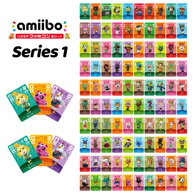 500pcs Animal Crossing Cards Series 1/2/3/4 Animal Crossing Amiibo Card Work for NS Games 001 to 400 free to choose wholesale image