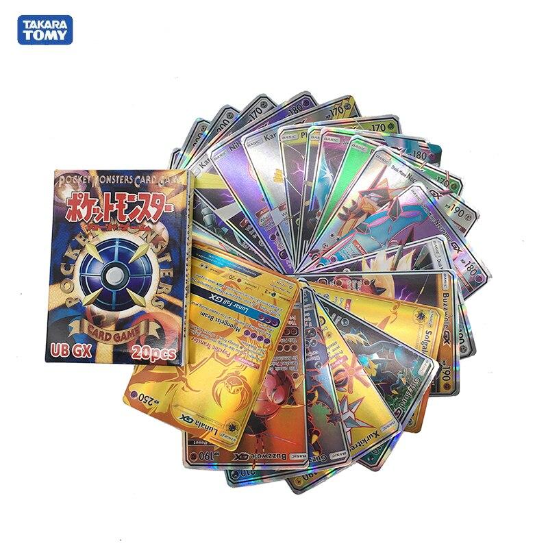 Takara Tomy Pokemon 20PCS GBC Flash Card Classic Plaid Flash Card Collectible Gift Children Toy