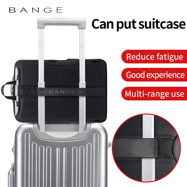 Bange Fashion Men 15.6inch Laptop Backpack Anti-theft Technology Business Backpack Waterproof USB RechargeTravel Backpack 5
