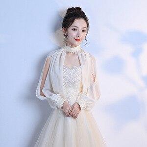 Image 4 - 9 Colors Lace Bridal Stoles Wraps Summer Women Bolero Wedding Coat Shawl Elegant Evening Jacket Cape Mariage