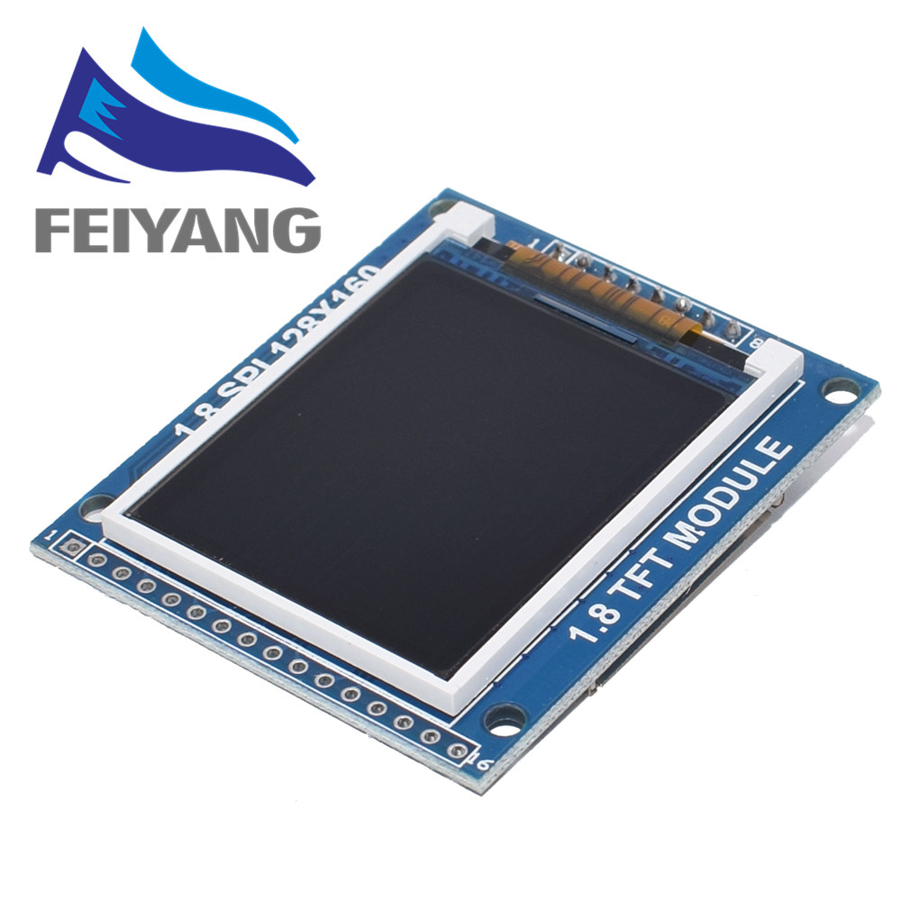 Mini 1.8 Inch Serial SPI TFT LCD Module Display with PCB Adapter IC 128x160 Dot Matrix 3.3V 5V IO Inerface Cmmpatible 1602 5110 image