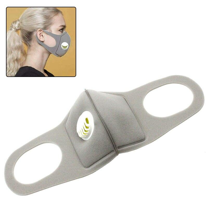 New Design Mask Breathable Mask Lightweight Respirator Valve Mask Washable High Density Dust-Proof Cloth For Health